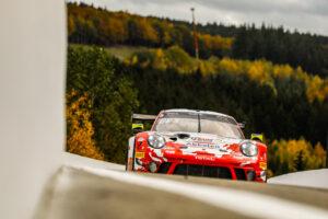 24 Hours of Spa Porsche 911 GT3 R, Frikadelli Racing Team (#22), Timo Bernhard (D), Dennis Olsen (N), Frédéric Makowiecki (F)