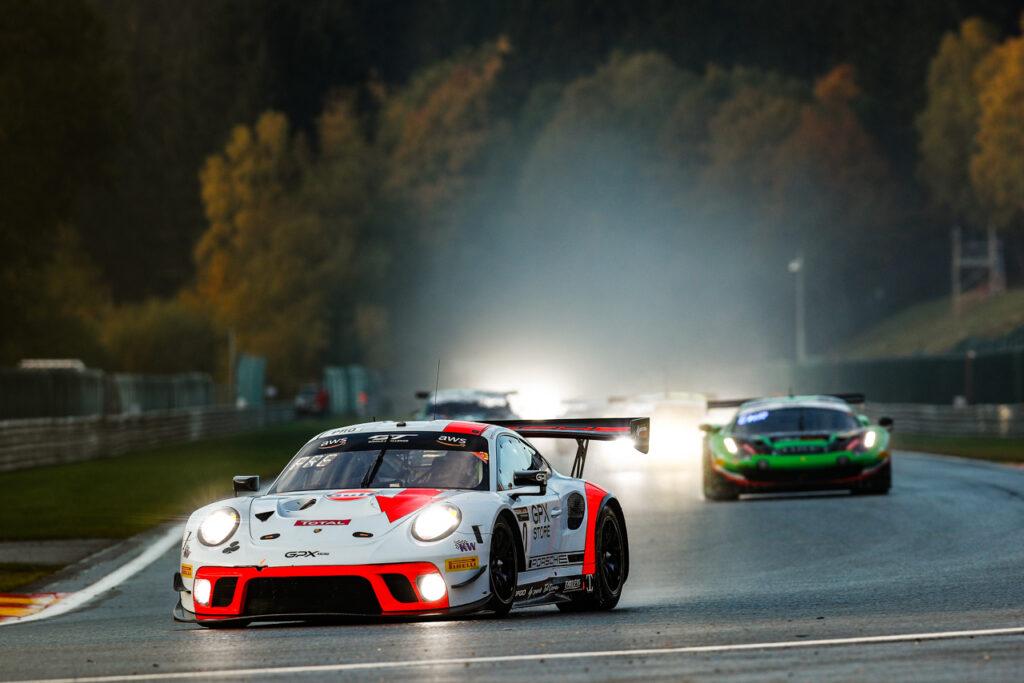 24 Hours of Spa Porsche 911 GT3 R, GPX Racing (#40), Romain Dumas (F), Louis Deletraz (CH), Thomas Preining (A)