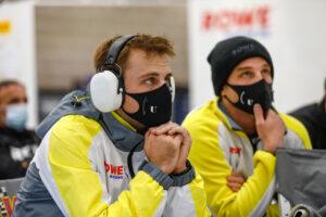 24 Hours of Spa Rowe Racing (#98), Laurens Vanthoor (B), Earl Bamber (NZ) (l-r)