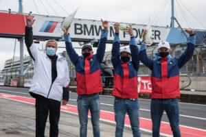 Nürburgring (GER), 24. September 2020. BMW M Motorsport, 24h Nürburgring, Nordschleife, #73 BMW M4 GT4, BMW Junior Team, Dan Harper (GBR), Max Hesse (GER), Neil Verhagen (USA), Jochen Neerpasch (GER).