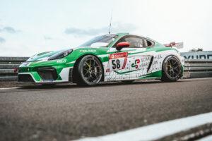 W&S Motorsport Porsche Cayman 718 GT4 Schaeffler Paravan Space Drive Racing N24h 2020
