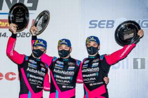12 Hours of Sebring, Sebring International Raceway, Sebring, FL, November 2020 IMSA Mario Farnbacher Matt McMurry und Shinya Michimi im Acura