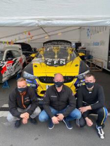 Pixum CFN Team Adrenalin Motorsport Yannick Fübrich, Florian Naumann und David Griessner