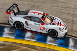 IMSA Sebring 2020 Porsche 911 RSR, Porsche GT Team (#912), Earl Bamber (NZ), Laurens Vanthoor (B), Neel Jani (CH)