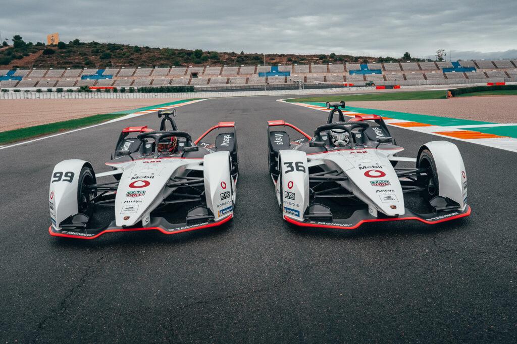 Porsche 99X Electric: #36 André Lotterer, #99 Pascal Wehrlein Testtage Valencia ABB Formula E 2021
