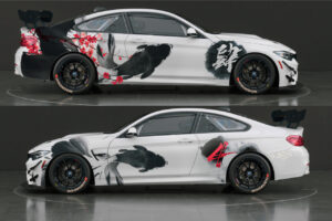 "BMW M4 GT4 im Design ""Fluid Power""."