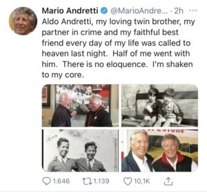 Mario Andretti - Tweet