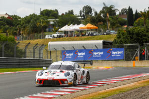 9 Hours of Kyalami Porsche 911 GT3 R, Lechner Racing (#9), Saul Hack (ZA), Andre Bezuidenhout (ZA), Dylan Pereira (L)