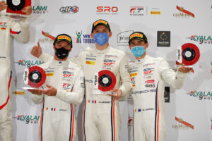 9 Hours of Kyalami 2020 GPX Racing (#12), Patrick Pilet (F), Mathieu Jaminet (F), Matt Campbell (AUS) (l-r)
