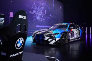 BMW SIM Live, event, show, BMW M4 GT3, Fanatec, steering wheel.