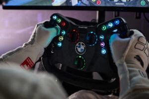 SIM Live, event, show, BMW M4 GT3, Fanatec, steering wheel.