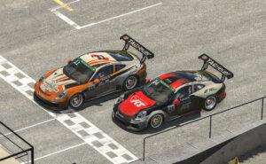Porsche 911 GT3 Cup, Max Benecke (D), #11; Michel de Jong (USA), #24, Porsche TAG Heuer Esports Supercup, 2021
