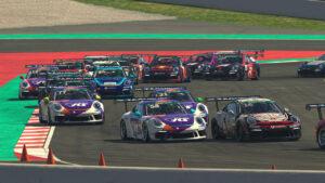 Porsche 911 GT3 Cup, Tommy Östgaard (N), #58; Mack Bakkum (NL), #16, Porsche TAG Heuer Esports Supercup, 2021