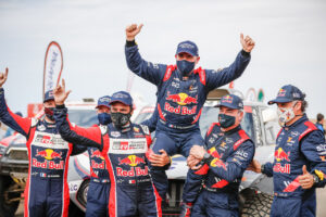15th January 2021. Dakar Rally, MINI Motorsport, X-raid, Saudi Arabia, MINI John Cooper Works Buggy, Stéphane Peterhansel, Carlos Sainz.