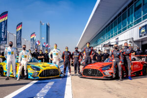 24h Dubai 2021 - 24h Series Continents powered by Hankook Round 1 - Foto: Gruppe C Photography; #4 Mercedes-AMG GT3 Evo 2020, HRT Bilstein: Hubert Haupt, Maro Engel, Patrick Assenheimer, Ryan Ratcliffe, Khaled Al Qubaisi
