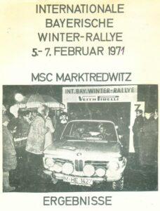 Winterrallye Marktredwitz 1971