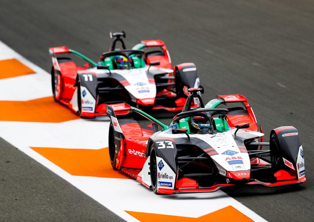Formula E, Valencia Test 2020 Audi e-tron FE07 #33, René Rast, Audi e-tron FE07 #11, Lucas di Grassi
