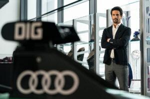 World premiere of the Audi etron GT: Sprint of Progress. Lucas di Grassi