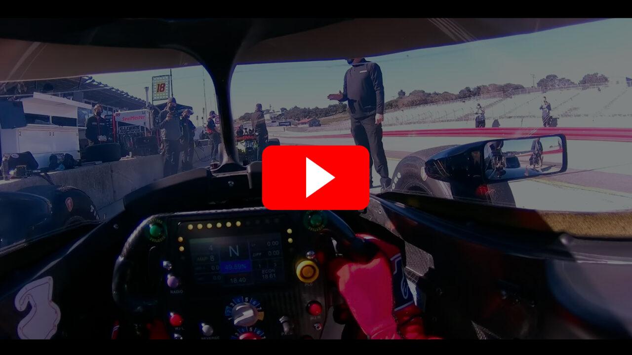 Romain Grosjean Drivers Eye Laguna Seca