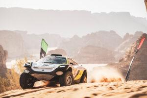 ALULA, SAUDI ARABIA - APRIL 03: Mikaela Ahlin-Kottulinsky (SWE)/Jenson Button (GBR), JBXE Extreme-E Team during the Desert X-Prix at AlUla on April 03, 2021 in AlUla, Saudi Arabia. (Photo by Charly Lopez / LAT Images)
