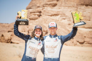 ALULA, SAUDI ARABIA - APRIL 04: Catie Munnings (GBR)/Timmy Hansen (SWE), Andretti United Extreme E during the Desert X-Prix at AlUla on April 04, 2021 in AlUla, Saudi Arabia. (Photo by Charly Lopez / LAT Images)