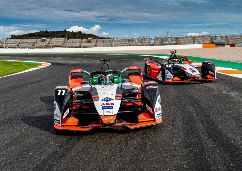 Formula E, Valencia Test 2020 Audi e-tron FE07 #11 Lucas di Grassi, Audi e-tron FE07 #33, René Rast