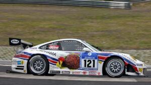 24h Nürburgring 2008 St121 Sabine Schmitz, Klaus Abbelen, Dr. Edgar Althoff                                          24h Nürburgring 2008