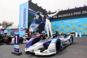 Valencia (ESP), 22nd April - 24th April 2021. ABB FIA Formula E World Championship, Season 7, Valencia E-Prix, Winner Jake Dennis (GBR) #27 BMW iFE.21, BMW i Andretti Motorsport.