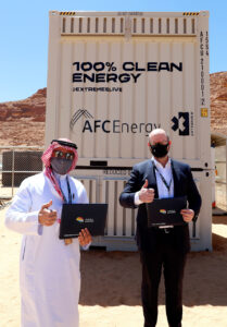 Adam Bond CEO AFC Energy contract signing.
