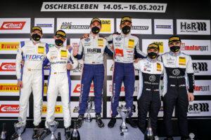 ADAC GT4 Germany, 1. + 2. Rennen Oschersleben 2021 - Podium