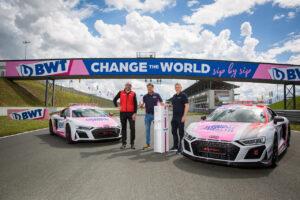 ADAC GT Masters, 1. + 2. Rennen Oschersleben 2021 - Serienpartner BWT Lutz Hübner, CMO der BWT Gruppe,  ADAC Sportchef Thomas Voss und Chris Reinke, Leiter Audi Sport customer racing