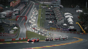 15.-16.05.2021,†The Sim Grid x VCO World Cup Round 2, Trustmaster 24h of Spa-Francorchamps, Start action, Assetto Corsa Competizione