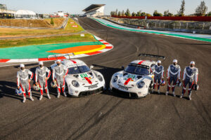 Porsche 911 RSR, Porsche GT Team (#91), Gianmaria Bruni (I), Richard Lietz (A), Frederic Makowiecki (F); Porsche GT Team (#92), Kevin Estre (F), Neel Jani (CH), Michael Christensen (DK) FIA WEC 2021